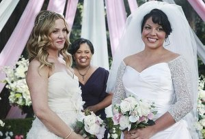 Grey's Anatomy, Arizona and Callie Wedding