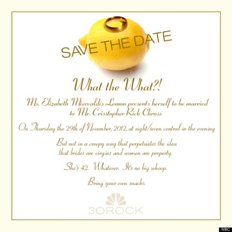 Liz Lemon's Wedding Invite