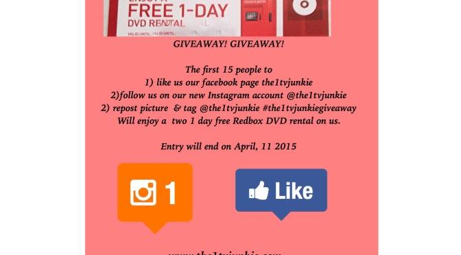 REDBOX DVD RENTAL GIVEAWAY